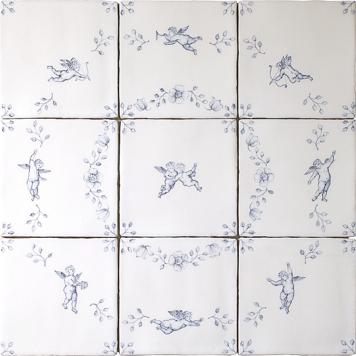 Amorini 9 tile Panel by Marlborough Tiles