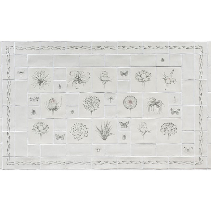 Botanical Etchings Panel