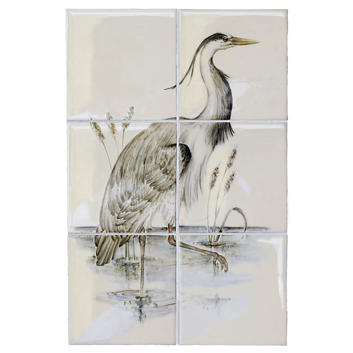 Heron Panel A by Marlborough Tiles