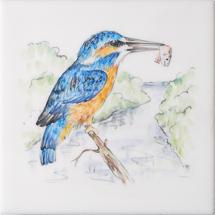 Kingfisher 4 by Marlborough Tiles