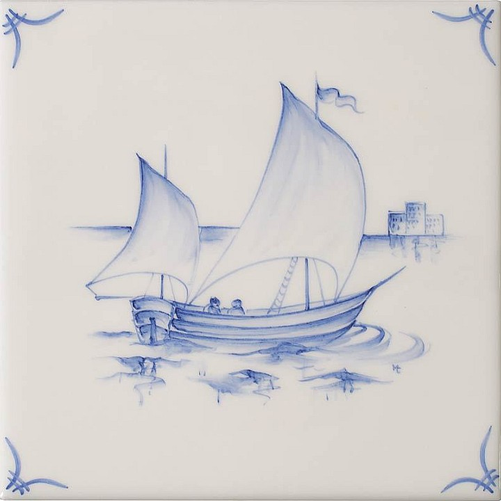 Ships & Landscapes 2 by Marlborough Tiles