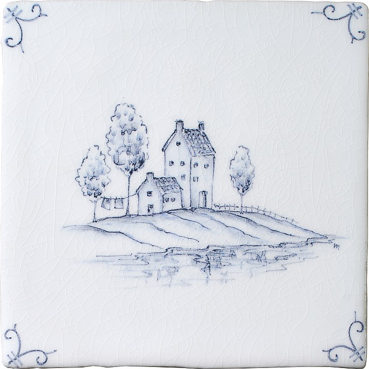 Landscape Delft 6 by Marlborough Tiles