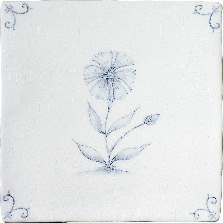 Flower Delft 6 by Marlborough Tiles