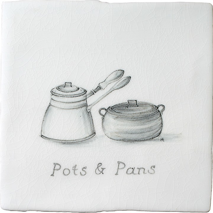 Pots & Pans 2 by Marlborough Tiles