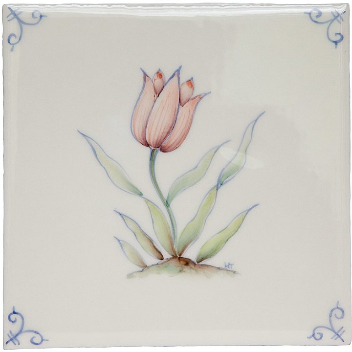 Polychrome Delft Flower 1