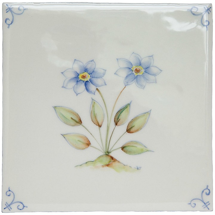 Polychrome Delft Flower 2
