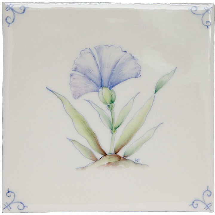 Polychrome Delft Flower 6