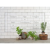 Herb Garden Panel with Diamond Decors