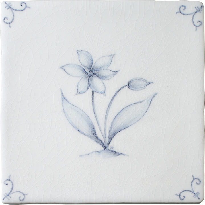 Flower Delft 3 by Marlborough Tiles