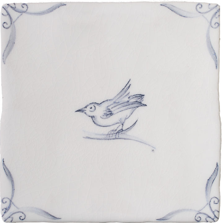 Delft Birds 3 by Marlborough Tiles