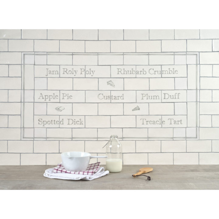 Great British Puds Panel with Great British Puds Decors by Marlborough Tiles
